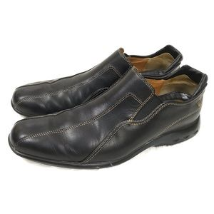 Cole Haan Nike Air • Black Leather Slip On Loafer